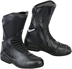 Motorrad Stiefel Racing Stylist Kurze Ankle Boot Motorrad Off Road Touring Schuhe Wasserdicht gepanzert für Herren Jungen - Grobe EU 43