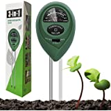 Dooppa Soil PH Tester 3 in 1, Soil Testing Kit Plant Care with Moisture Test,Light Test and PH Test for Garden Care, Bonsai T