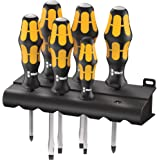 Wera 932-6 Kraftform Plus Screwdriver Set and Rack, 6 - Pieces