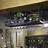 Hhh Bar Rétro Créatif Suspendu Casier à Vin Porte Verres Bar Vin Européen à l'envers Support de Verre à Vin Gobelets Cintre (