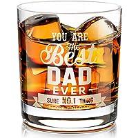 Cadeaux pour Papa Verre à Whisky, Verre à Whisky Gravé Personnalisé cadeau pour la fête des Pères, Anniversaire pour…