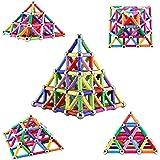 Veatree 206 Pezzi Puzzle Blocchi magnetici Giocattoli, Costruzione di Magnete Kit di Costruzione Giocattoli educativi per Bam