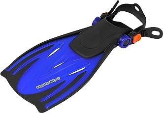Aquazon Verstellbare Flossen, Schnorchelflossen, Taucherflossen Alicante für Kinder, Jugendliche, Damen,Blau, Pink, Gelb, Junior