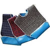 Lätzchen für Erwachsene, mit optionalem Auffangbehälter, wasserdichte Unterseite, für Essen, als Kleidungsschutz…