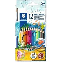 Staedtler Noris Aquarell, Crayons de couleur aquarellables avec système anti-casse, Utilisables à sec ou l'eau, Étui…