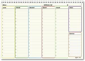 agenda da tavolo senza data Planning 21x30 perpetuo SPIRALATO da tavolo AVORIO 55 fogli da 80 gr