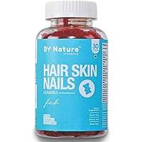 By Nature Hair & Skin Vitamin Gummies - with Biotin, Folic Acid, Vitamin A, C, E, B6, B7, B9 & B12 for Hair Growth…