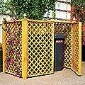 Mülltonnenbox für 2 Tonnen Müllbox Doppelbox Mülltonnencontainer Kiefer massiv von Promadino - Du und dein Garten