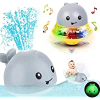 Bath Toys for 1 2 3 4 5 years old boys girls ,2 in 1 Electric Induction Whale Water Spray Toy, Bath Fun Toys with Music…