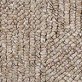Teppichboden Auslegware Meterware Schlinge meliert gemustert beige braun 400 und 500 cm breit, verschiedene Längen