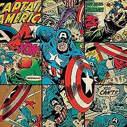 Marvel Comics Impresión en Cuadro de Lienzo Capitán América, 40x 40cm