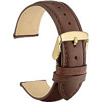 WOCCI Cinturino in Pelle Retrò con Fibbia in Oro per Orologio, Cinturini di Ricambio 14mm 16mm 18mm 19mm 20mm 21mm 22mm