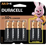 Duracell 32047 Type AA Alkaline Batteries, pieces of 12, 8 + 4 - (Pack of1)