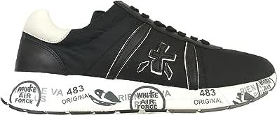 PREMIATA Scarpe da Uomo Sneaker in Tessuto e Pelle Mattew_2832 Nero Grigio