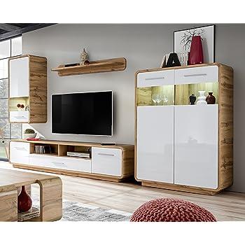 Media Entertainment Center Wall Unit Tv Stand Led Modern Living Room