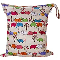 Waschbare Wickeltasche mit Elefanten-Muster