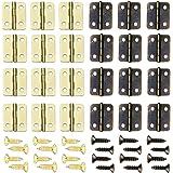 Sweieoni 100 Packs Folding Butt Scharnieren, Mini Kast Lade Butt Scharnieren Mini Koperen Scharnieren 16 x 13mm Butt Scharnie