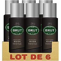 Brut Musk Déodorant Homme Spray Anti-Traces et Efficacité Longue Durée (Lot de 6x200ml)