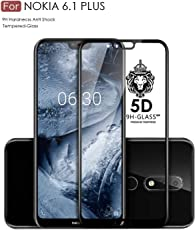Original Premium Nokia 6.1 + Tempered Glass – WOW Imagine® Premium 6D Full Glue NOKIA 6.1 Plus Tempered Glass, Full Edge-Edge Screen Protection For Nokia 6.1 Plus [ SPECIAL PRICE FOR NOKIA - LIMITED PERIOD OFFER ] - Black
