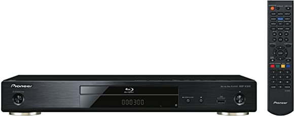 Pioneer BDP-X300-B 3D Blu-Ray Disc Player (Ultra HD Upscaling, DLNA, Miracast, Wifi integriert, App Control, BD-Live, GUI in HD) Schwarz