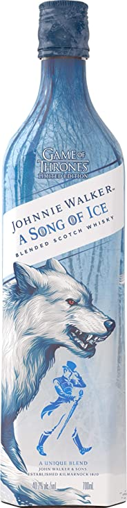 Johnnie Walker A Song of Ice – Blended Scotch Whisky, Haus Stark Game of Thrones Limited Edition, 70 cl, 40,2%