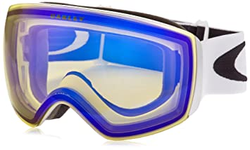 oakley flight deck snow goggles 62dk  Oakley Flight Deck ski/snowboard Mask multi-coloured Matte White/Hi Yellow  Size