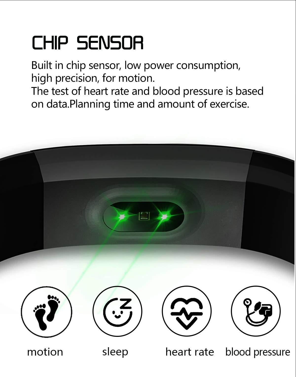 MENGZHEN 1 UNID ID115 Plus Monitor de Actividad del Ritmo cardíaco Pantalla táctil Usable Podómetro Bluetooth Pulsera Inteligente con Monitor de sueño 5
