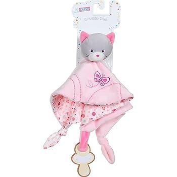 sigikid 48095, Fille Doudou Chat, Rose  Ecru jouet bébé enfant qualité 0d1b0ef4617