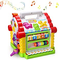 Magicwand Engineering Grade Plastic Musical Learning House for Toddlers with Lights and Sound (Multicolour)