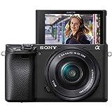 Sony Alpha 6400 E-Mount Systemkamera (24 Megapixel, 4K Video, 180° Klapp-Display, 0.02 Sek. Echtzeit-Autofokus mit 425 Kontrast AF-Punkten, XGA OLED Sucher, L-Kit 16-50 mm Objektiv) schwarz
