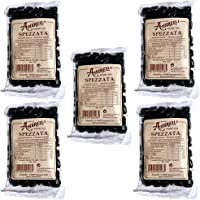5x Amarelli - Spezzata 100 gr -> 5 confezioni da 100gr ciascuna | Liquirizia Pura, 500gr in totale