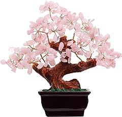 Parma77 Mart Feng Shui Natural Rose Quartz Crystal Money Tree