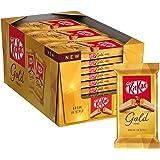 Kitkat Gold Snack di Wafer Ricoperto di Cioccolato Bianco al Caramello 27 Snack da 41.5 g - 1.12 kg