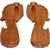 Idol Collections Elegant and Exquisite Wooden Khadau/Chappal, Charan Paduka, Wooden Slipper