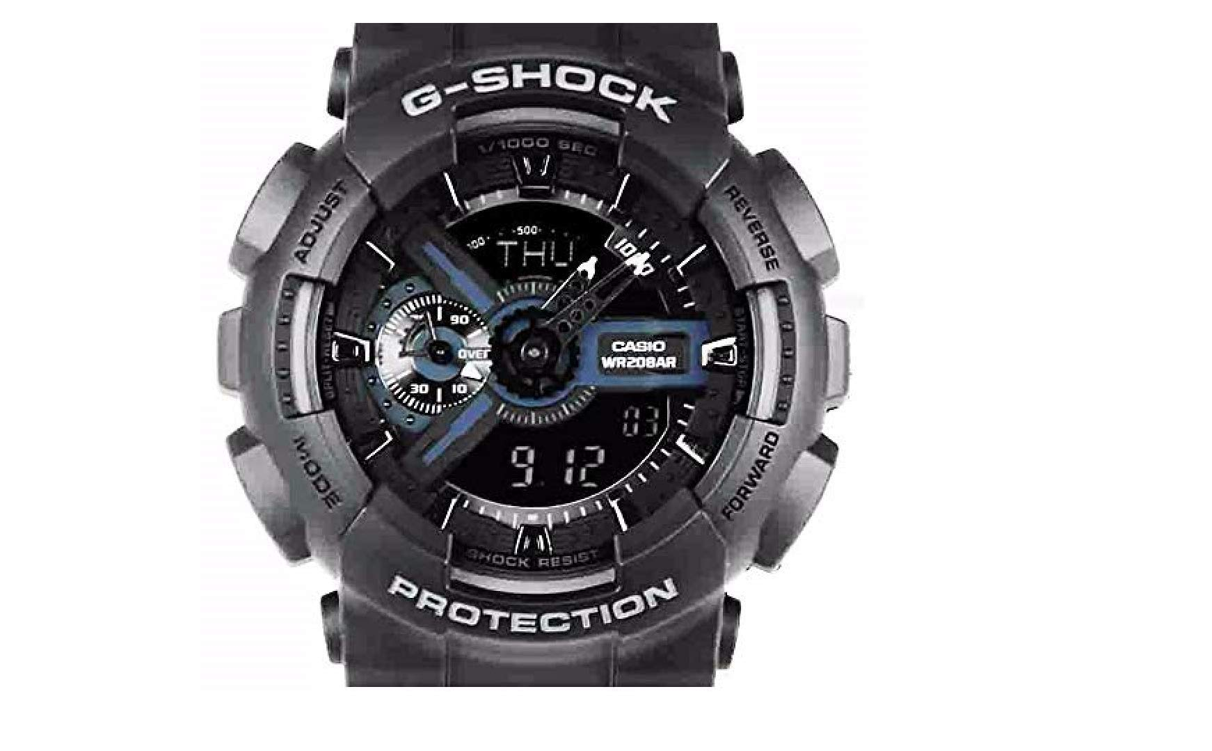 Casio G-Shock Analog-Digital Black Dial Men's Watch – GA-110-1BDR (G317)