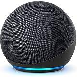 Nya Echo Dot (4:e generationen) Internationell version   Smart högtalare med Alexa   Grafitgrå   Svenskt språk ej tillgänglig
