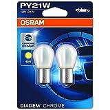 OSRAM 7507DC-02B DIADEM Chrome, PY21W, halogeen signaallamp, dubbele blister (2 lampen), wit