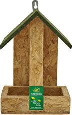 Nature Forever Hut Wooden Feeder, Brown