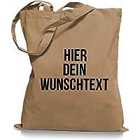 Stoffbeutel Jutebeutel mit Wunschtext/Selber gestalten mit dem Amazon T-Shirt Designer/Beutel Druck/Designertool…