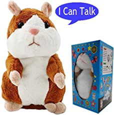 Bestland Plush Pro Talking Hamster Repeats What You Say Electronic Pet Chatimals Interactive Mouse Buddy for Boys and Girls (5.7x3 Inches)