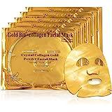 Mascarilla hidratante facial de oro 24k y colageno para tratamiento facial antiarrugas, antienvejecimiento - 5 piezas