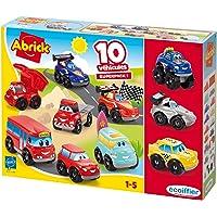 Jouets Ecoiffier – 3269 - Coffret 10 véhicules Fast Cars Abrick – Jeu de construction pour enfants – Dès 18 mois…