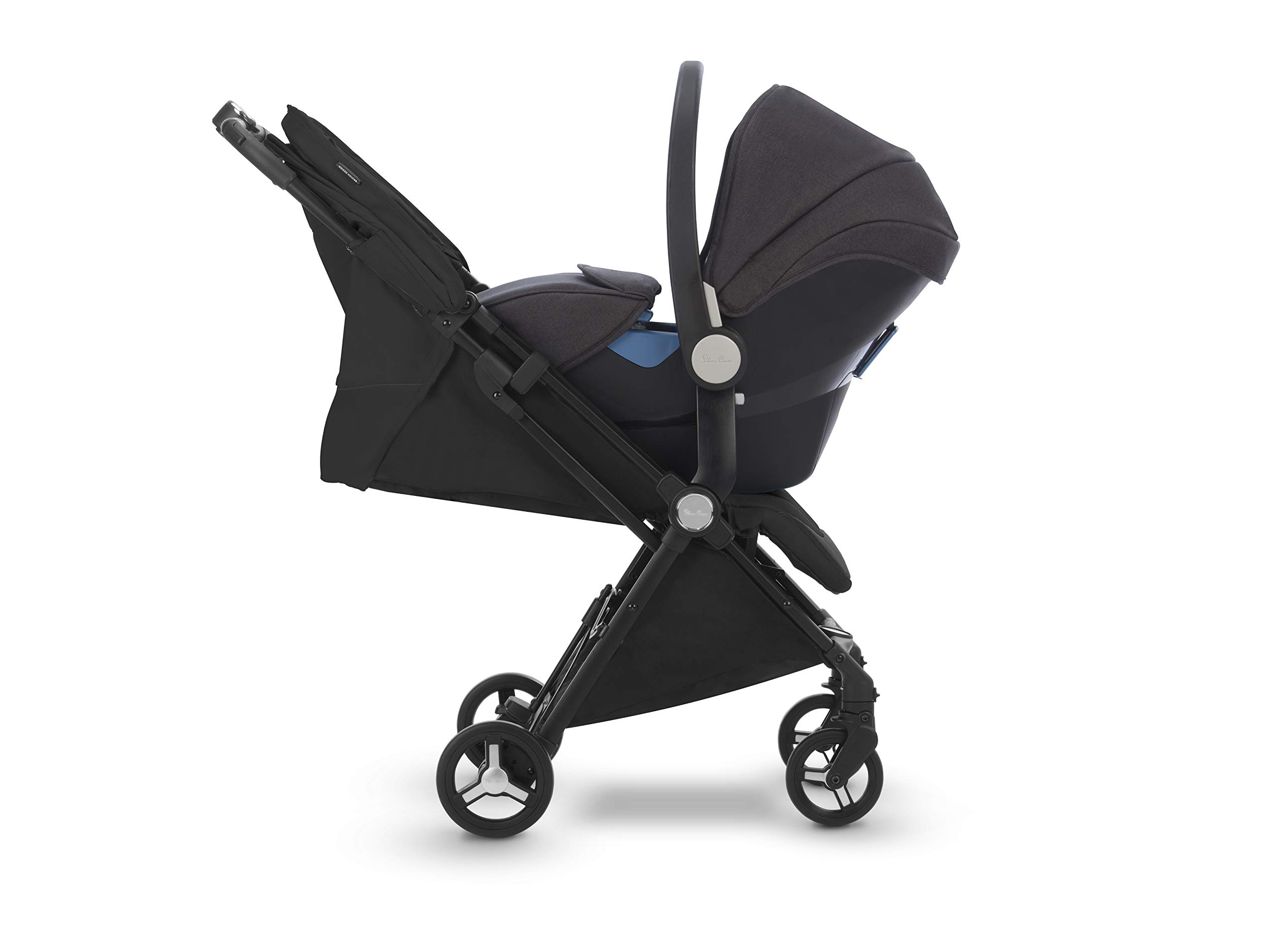 Silver Cross Jet Stroller, Ebony Silver Cross Ultra compact and light travel stroller Cabin approved. Folded Dimensions- 18 cm D x 30 cm W x 55 H cm Suitable from birth 5
