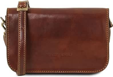 Tuscany Leather Carmen Tracollina in pelle con pattella - TL141713