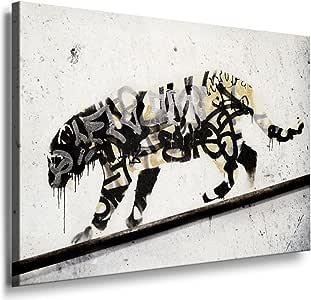 "Graffiti, BANKSY , ""tiGer-spRay-coLour-blAck"" Druck auf"