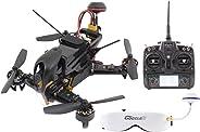 XciteRC 15003960FPV Racing - Cuadricóptero F210RTF con cámara Sony HD, OSD, vídeo Gafas Goggle2, batería, Cargador, y Contr