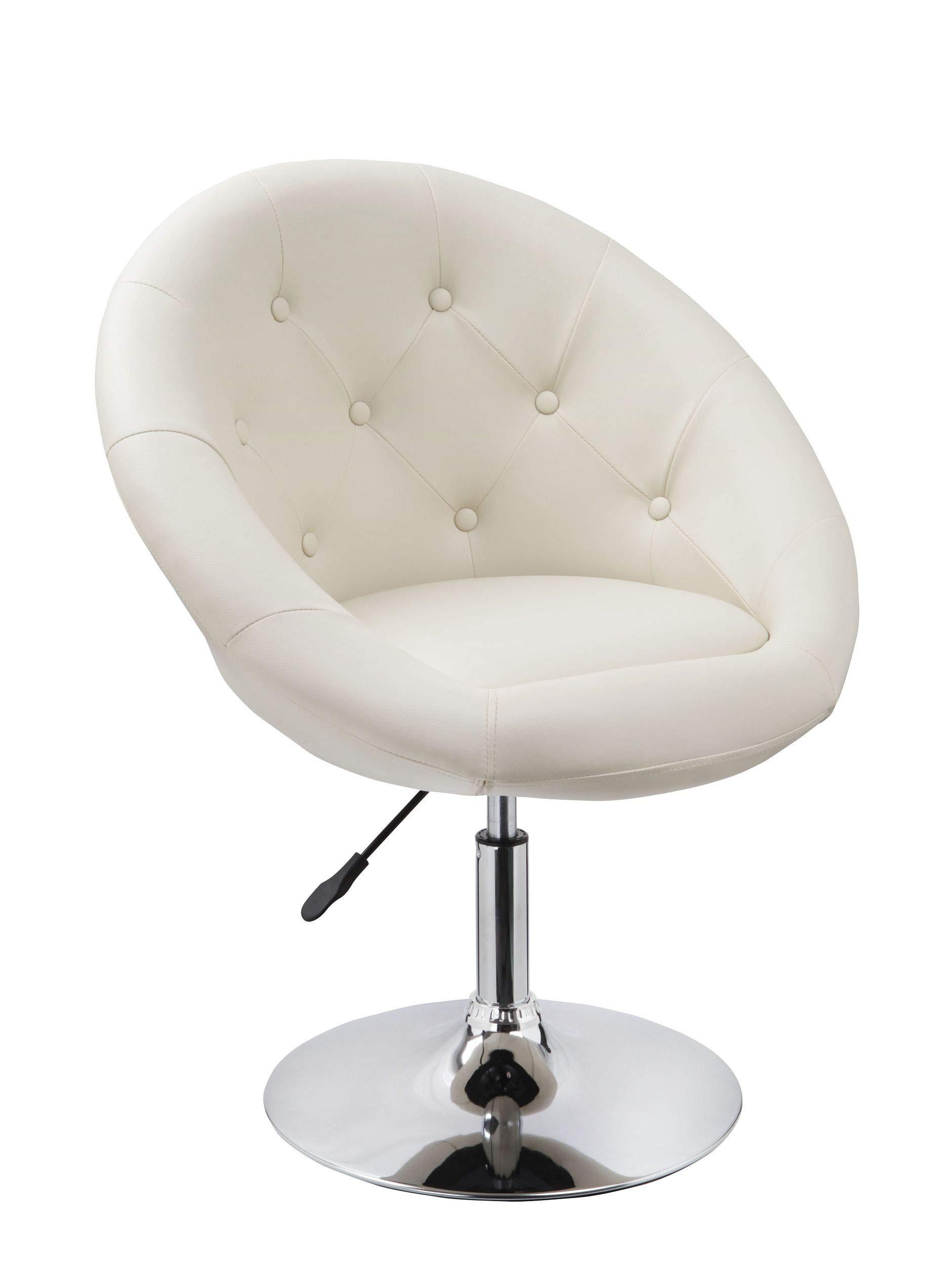 Sessel in Creme höhenverstellbar Kunstleder Clubsessel Coctailsessel Lounge Sessel Duhome 0334 1