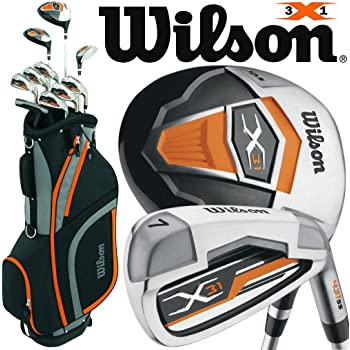 Wilson X31 MENS 2018 COMPLETE GOLF PACKAGE SET +DELUXE GOLF CART BAG