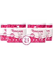 Origami Paper 3 Ply Toilet Tissue - 6 Rolls (Pack of 4)
