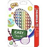 Lápiz de color ergonómico STABILO EASYcolors START - Modelo para ZURDOS - Estuche con 12 colores y 1 sacapuntas